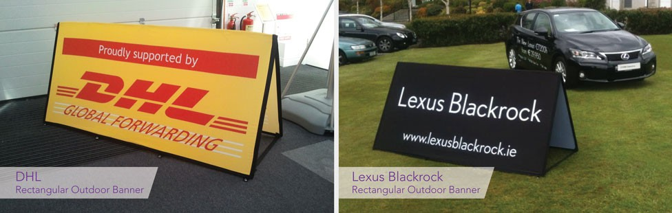 branded golf tee signs