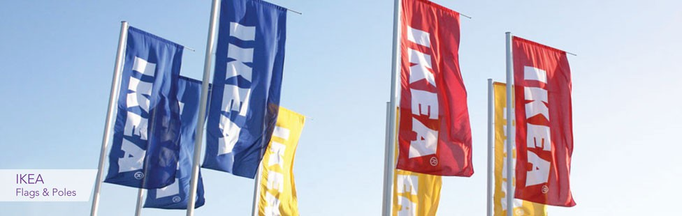 ikea flags and poles