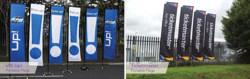 portable flags and poles ireland