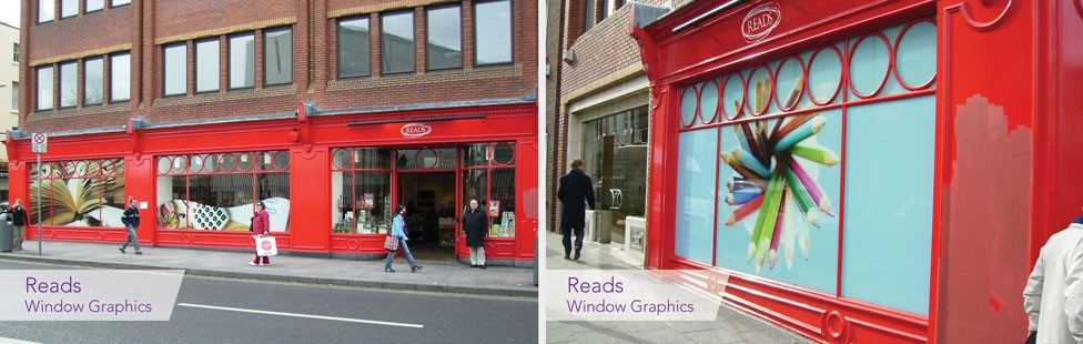 Reads Dublin SHop Window Graphics