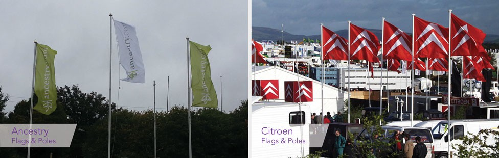 static flags & poles at RDS dublin