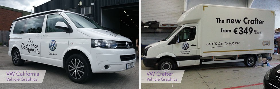 VW Vehicle graphics signage
