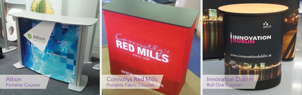 branded portable counters ireland