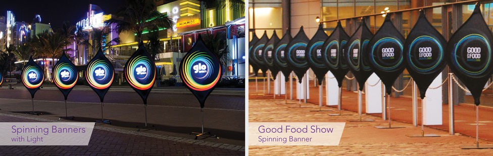 printed spinning banners ireland