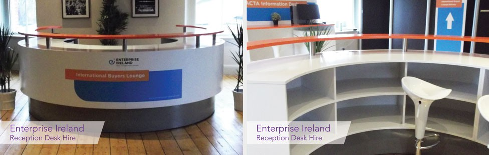 event hire reception desk
