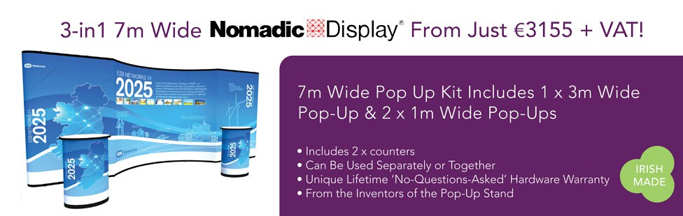 large pop up stand ireland
