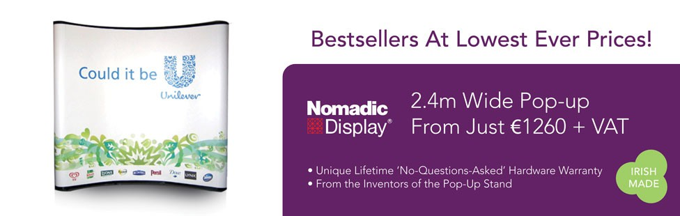 nomadic pop up stand special offer