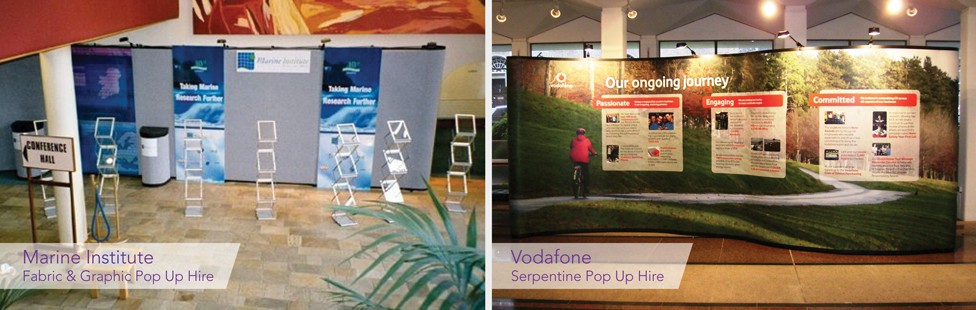pop up stands for hire in dublin