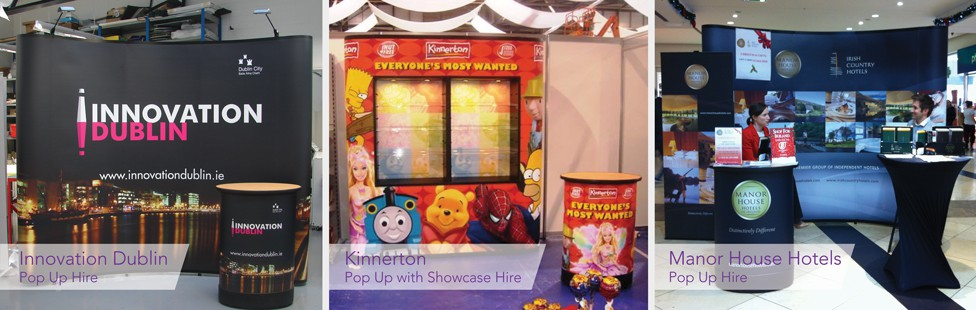 pop up stand hire