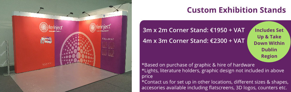 Corner Exhibition Stands Up : Exhibition stands ireland applied signs display dublin