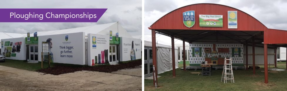 marquee cladding ploughing championships signage company